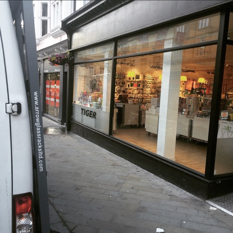 Shop front glass replacement